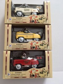 Die Cast Pedal Power Red Golden Gas Car 1:10 scale