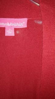 """Red Cardigan by """"Woman Within"""" Size 3X"""