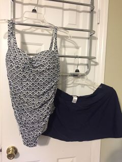 $20 for Both or $10 each Size 14/D/DD One Piece bathing suit/Swim Skort