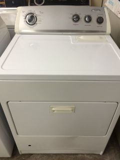 Whirlpool Gas Dryer in White