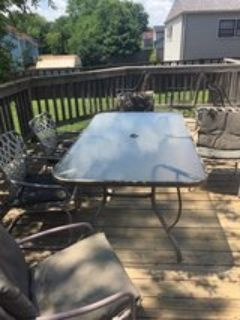 patio table with 5 chairs