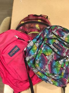 Backpacks (all three for $30)