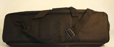 Black Padded Canvas Tote Chess Bag