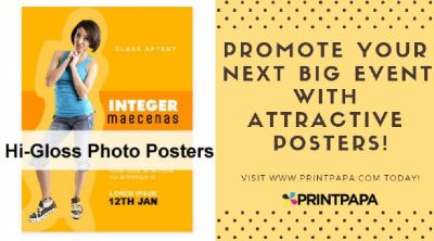 Planning an event? Get Posters printed from PrintPapa