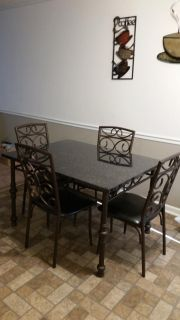Kitchen table with 4 matching chairs