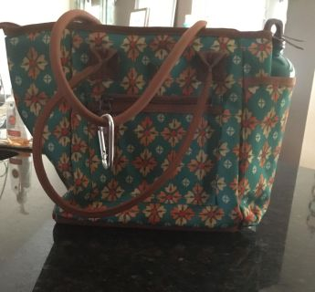 Pioneer Woman Lunch Bag with Water Bottle