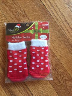 Holiday socks for dogs