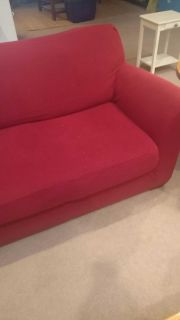 Red couch slipcovers