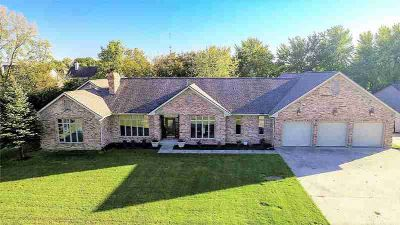 12454 Hoosier Road Fishers Four BR, Custom built all brick ranch