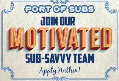 Restaurant Manager for Port of Subs