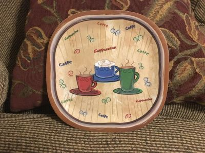 Coffee Cappuccino Latte Caffe Serving Platter Swap Only