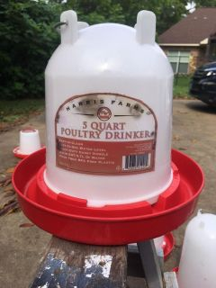 5 quart Poultry chicken quail drinker watered Harris Farms $5 each 5 available