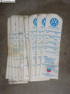 NOS VW Commonwealth Motors Oil Change Stickers