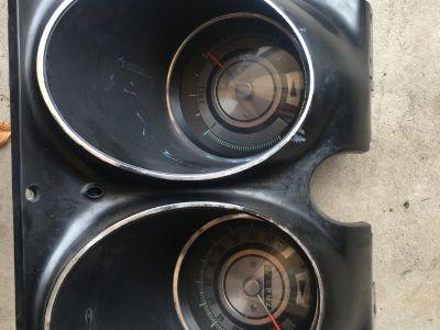 Antique digital dash gauge
