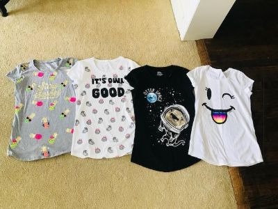 4 Justice Shirts: Size 14