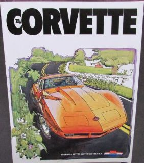 Sell Original 1974 Chevrolet Corvette Dealer Sales Brochure Stingray Convertible motorcycle in Holts Summit, Missouri, United States, for US $16.74