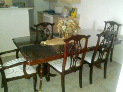 Dinning table with living room set