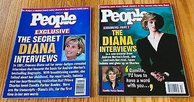 Lot of 2 People Weekly Exclusive the Diana Interviews October 13 & 20 1997