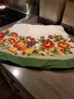Fall round tablecloth