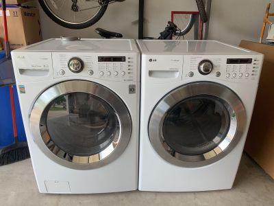LG True Steam Direct Drive Washer True Balance anti-vibration System & Dryer Works Great