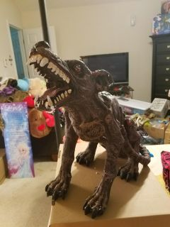 Halloween animated zombie dog prop new in box