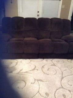 REDUCED! Double reclining brown sofa, excellent condition! Need gone!