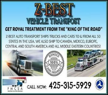 Z-Best Transportation | Auto Transport Company Mario 425-315-5929