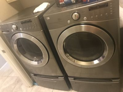 LG Stainless Steel washer & dryer