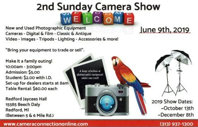 2nd Sunday Camera Trade Show- New and Used Photographic Equipment