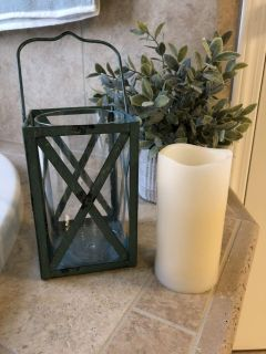 Pretty Metal Lantern & LED Candle from Hobby Lobby