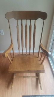 Solid wood rocking chair, adult size