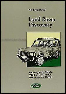 Purchase Land Rover Discovery Shop Manual 1994 1993 1992 1991 1990 1989 Repair Service motorcycle in Riverside, California, United States, for US $89.00
