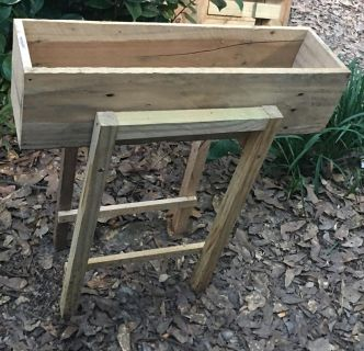 Elevated Wooden Planter