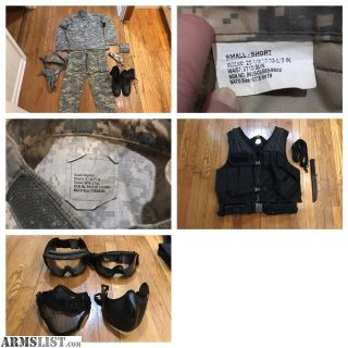 For Sale: Airsoft bundle - clothing, weapons, and more