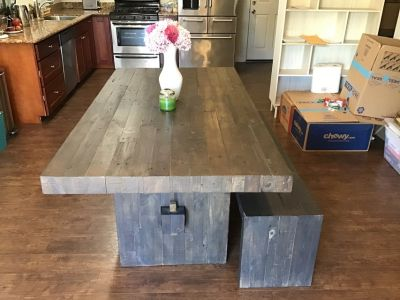 West Elm Emmerson Reclaimed Wood Table and Bench
