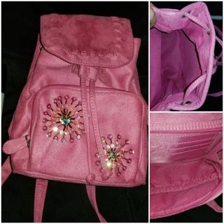 Pink Backpack Purse