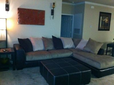 Moving sale..Sectional sofa  large ottoman (baton rouge)