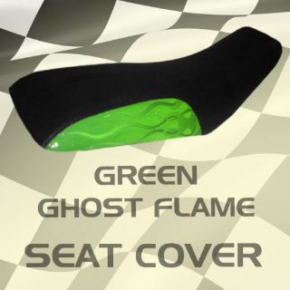 Buy Suzuki LT 160 Quadrunner 91-96 Green Ghost Flame Seat Cover #kok15480 old7490 motorcycle in Milwaukee, Wisconsin, United States, for US $39.99