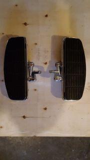 Floorboards, adjustable, chrome.
