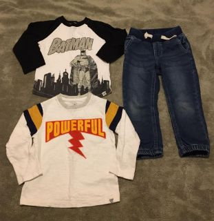 Gap jeans and 2 shirts. Size 3t. GUC. $3.
