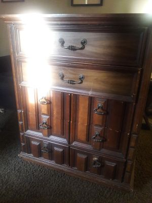 Dresser with matching night stand