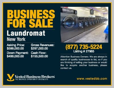 $599,000, Established Laundromat For Sale In Richmond County, NY-27965