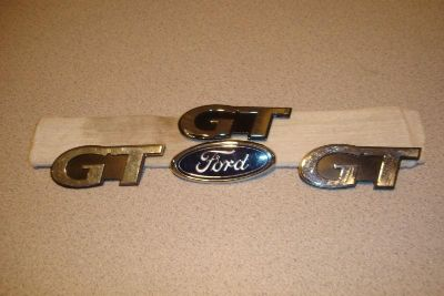 Find 99 00 01 02 03 FORD MUSTANG GT FENDER BADGE EMBLEM OEM 3 GT & 1 BLUE OVAL motorcycle in Lebanon, Tennessee, US, for US $29.99