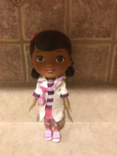 Doc McStuffins doll. 9 inches tall.