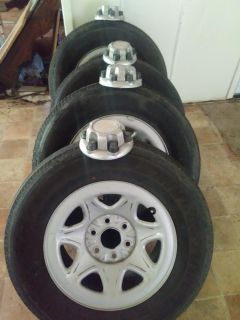 """17"""" Chevy 6lug wheels and tires must sale"""