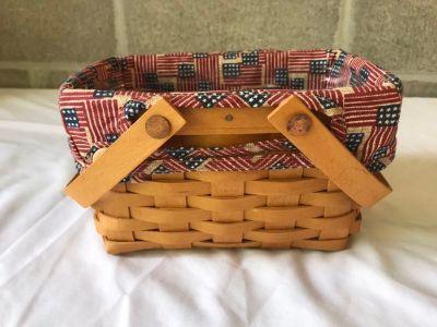 Longaberger Little Market basket with accessories