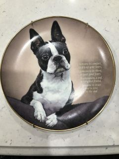 Boston Terrier Collector Plate - The Danbery Mint