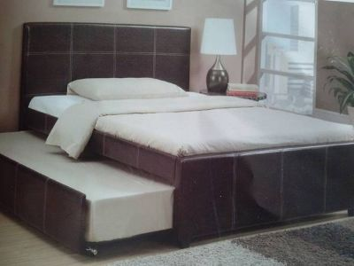 Platform Twin Bed w Trundle