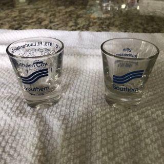 2 Vintage Southern Airways Shot Glasses