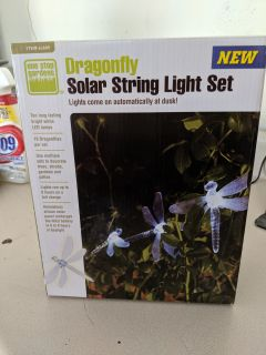 Dragonfly LED Solar String Lights New in Box 2 Sets $5 each